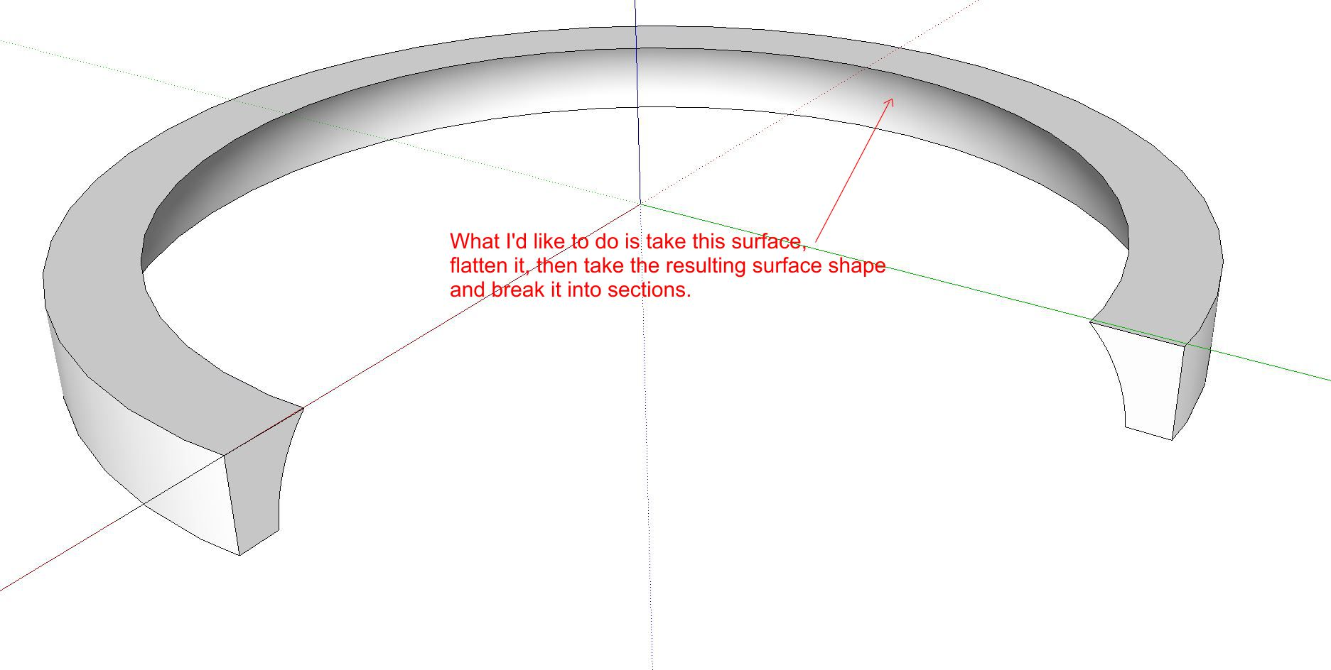 how to make curve not fragmented sketchup